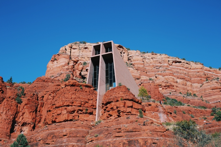 sedona church in rock
