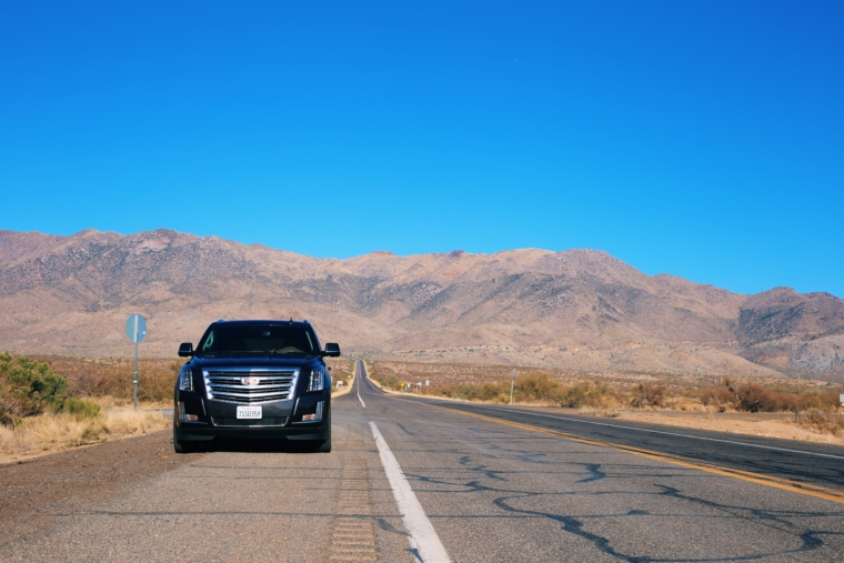 cadillac escalade sonoran desert road trip arizona scenic route