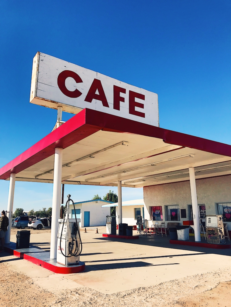 route 66 cafe gas station arizona