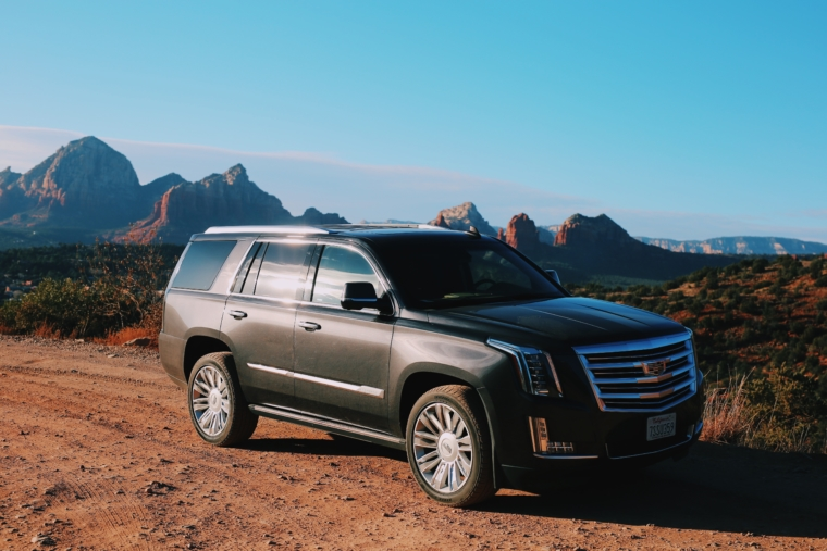 cadillac escalade road trip arizona