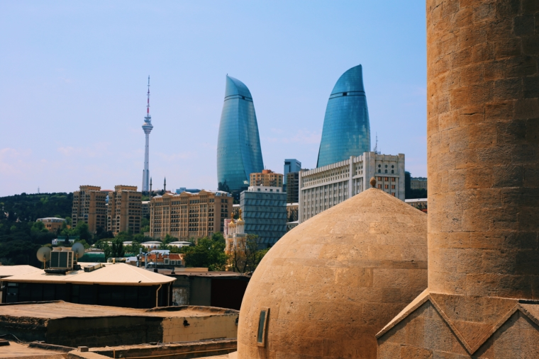 Azerbaijan baku flame towers must see