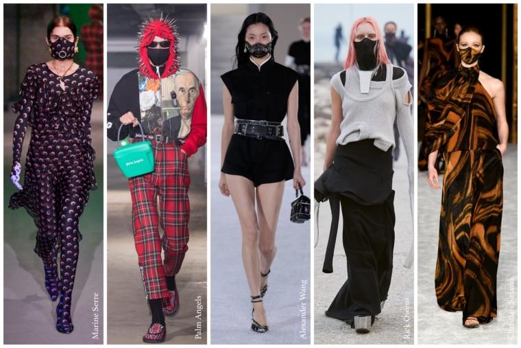 face fashion mask future fashion week runway catwalk designer