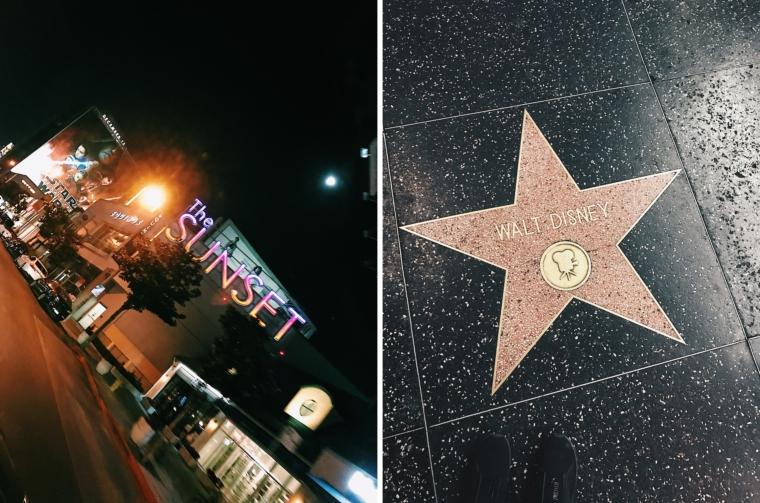 los angeles hollywood sunset boulevard walk of fame