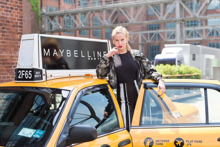 mabelline new york shooting in berlin taxi ny style