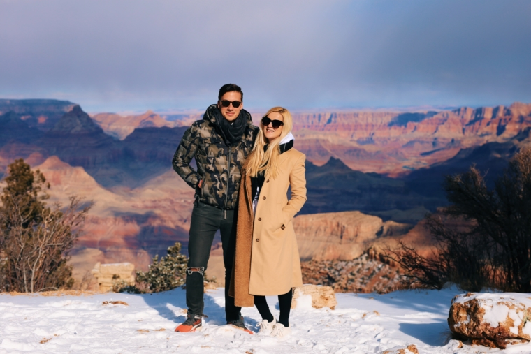 grand canyon couple shooting