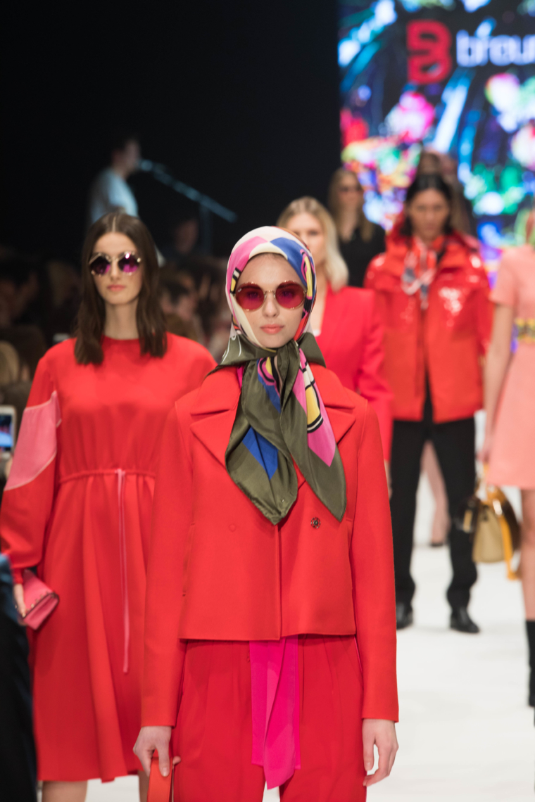 trend farbe rot 2018 breuninger show plattform fashion düsseldorf