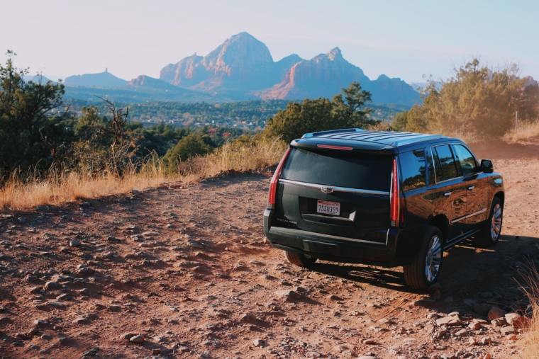 road trip best car usa arizona cadillac escalade