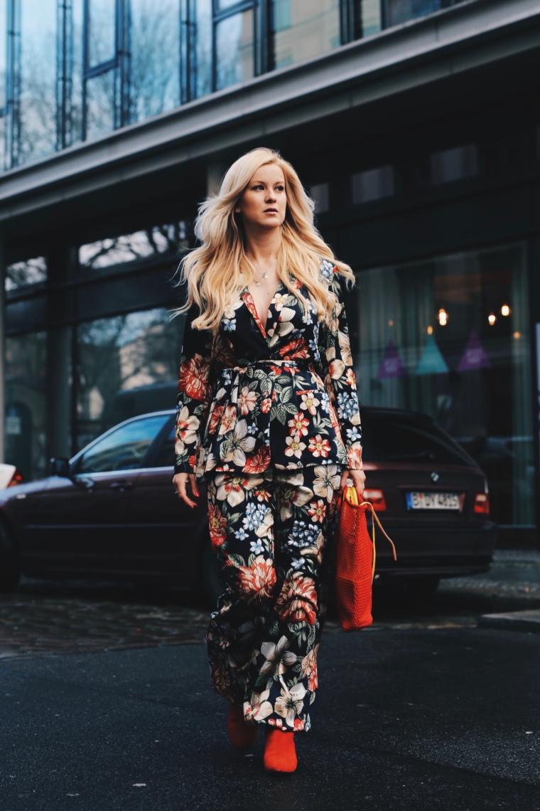 mbwf berlin streetstyle floral flower print suit