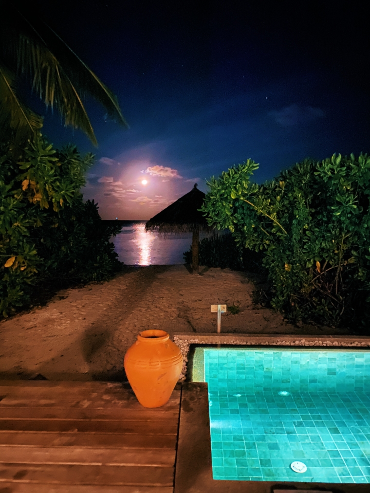 Amari Havodda Maldives by night