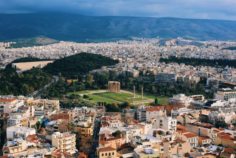 athens from above view