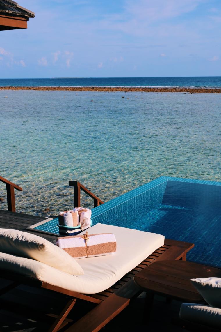 Hideaway Beach Resort & Spa Maldives overwater villa with pool
