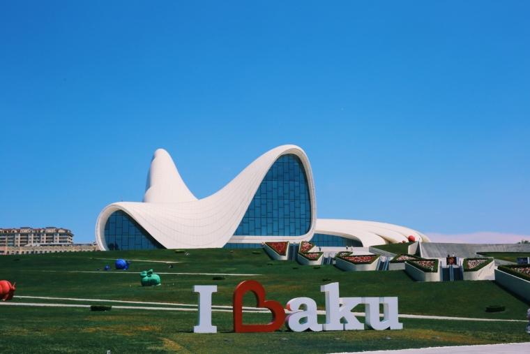 Baku Azerbaijan Heydar Aliyev Center Zaha Hadid