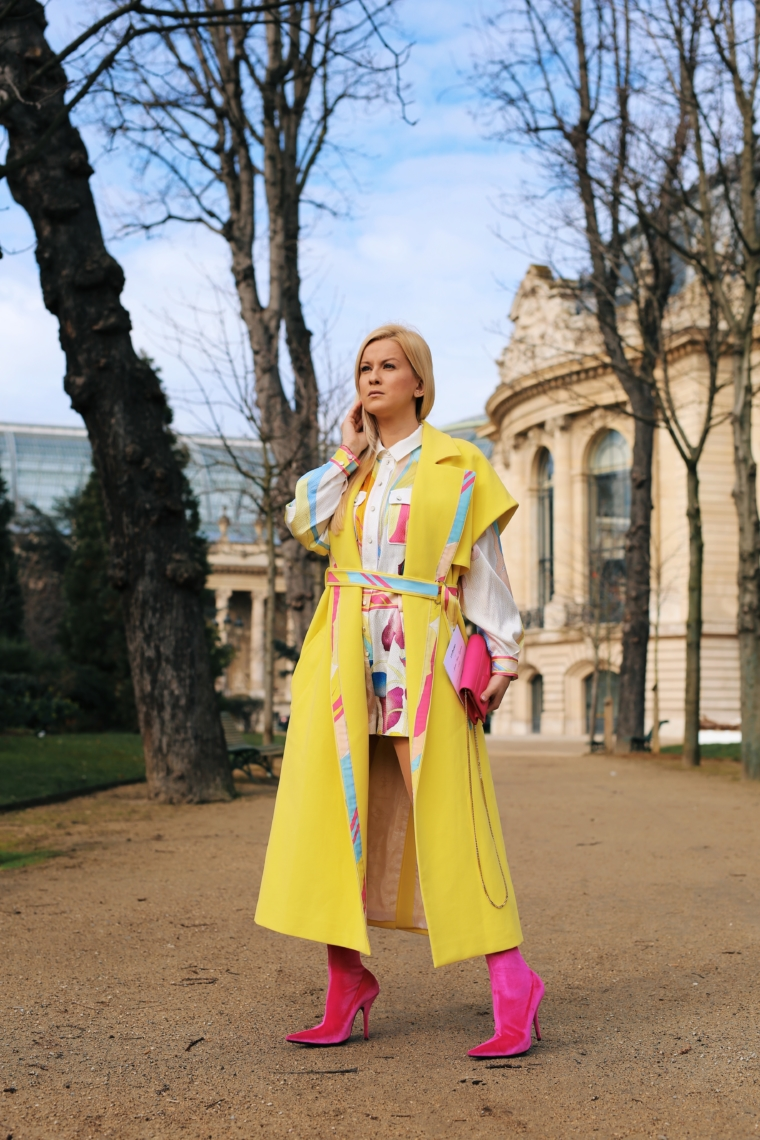 trend alert yellow paris fashion week 2018 streetstyle leonard paris