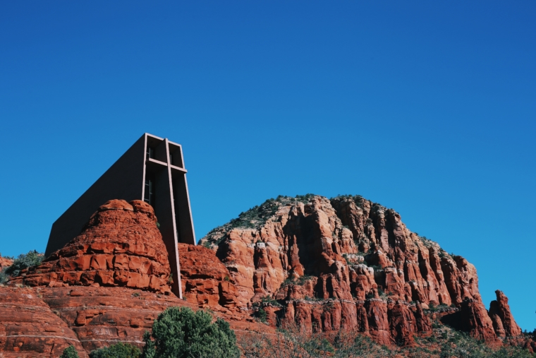 sedona church in mountain