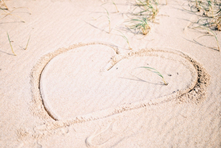 sylt sand strand herz