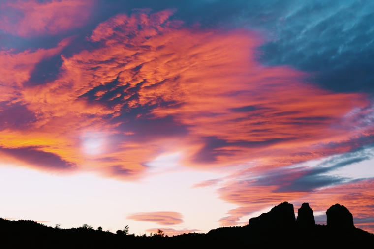 sedona sun set arizona