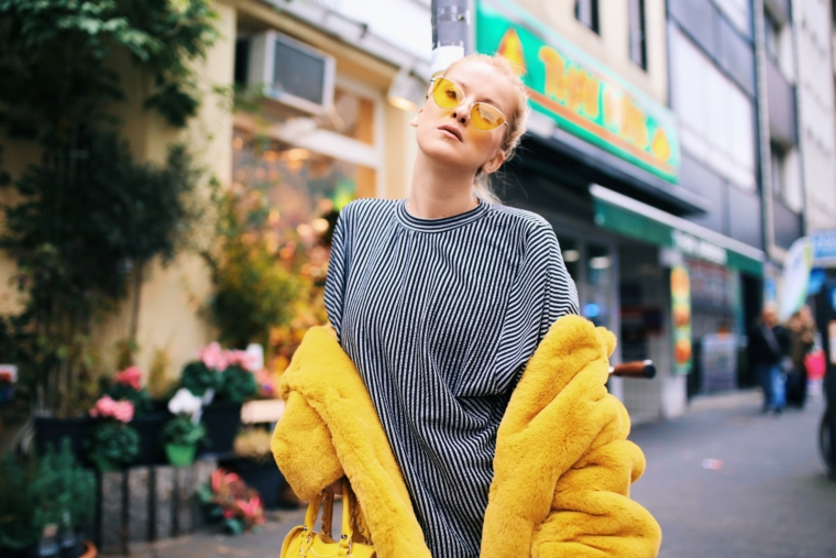 colorful yellow sunglasses trend 2018