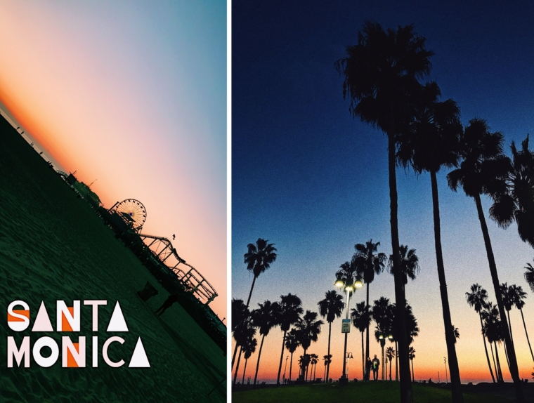santa monica venice beach los angeles sun set