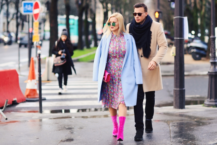 super stylish best dresses streetstyle couple paris fashion week streetstyle 2018 best