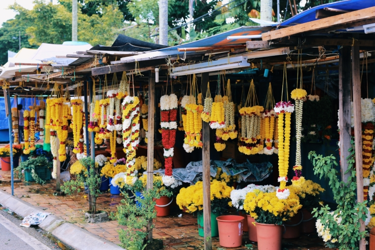 kuala lumpur batu caves flower market