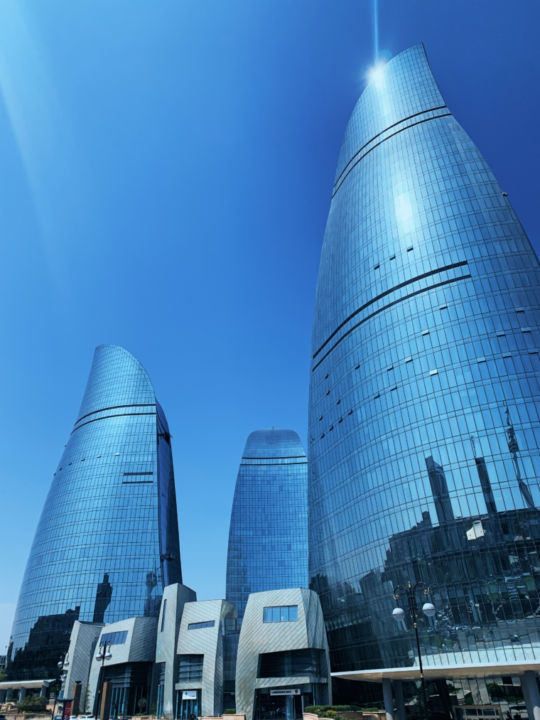 Baku Azerbaijan flame towers