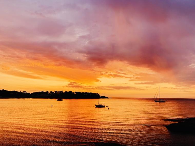 costa brava sunset pink sky