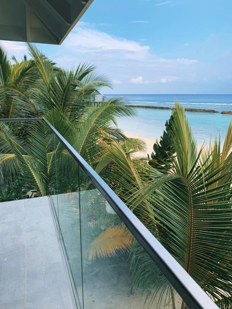 Kuramathi Maldives balcony