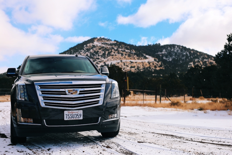 cadillac escalade snow trip tour winter