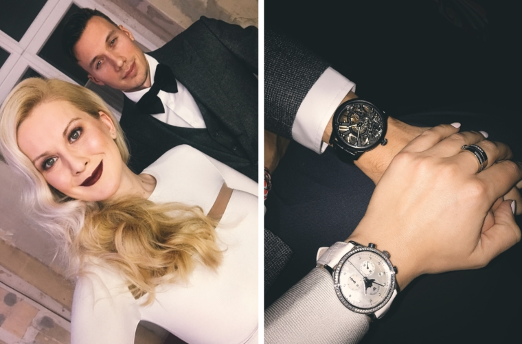 palina kozyrava with boyfriend max maurice lacroix limited edition
