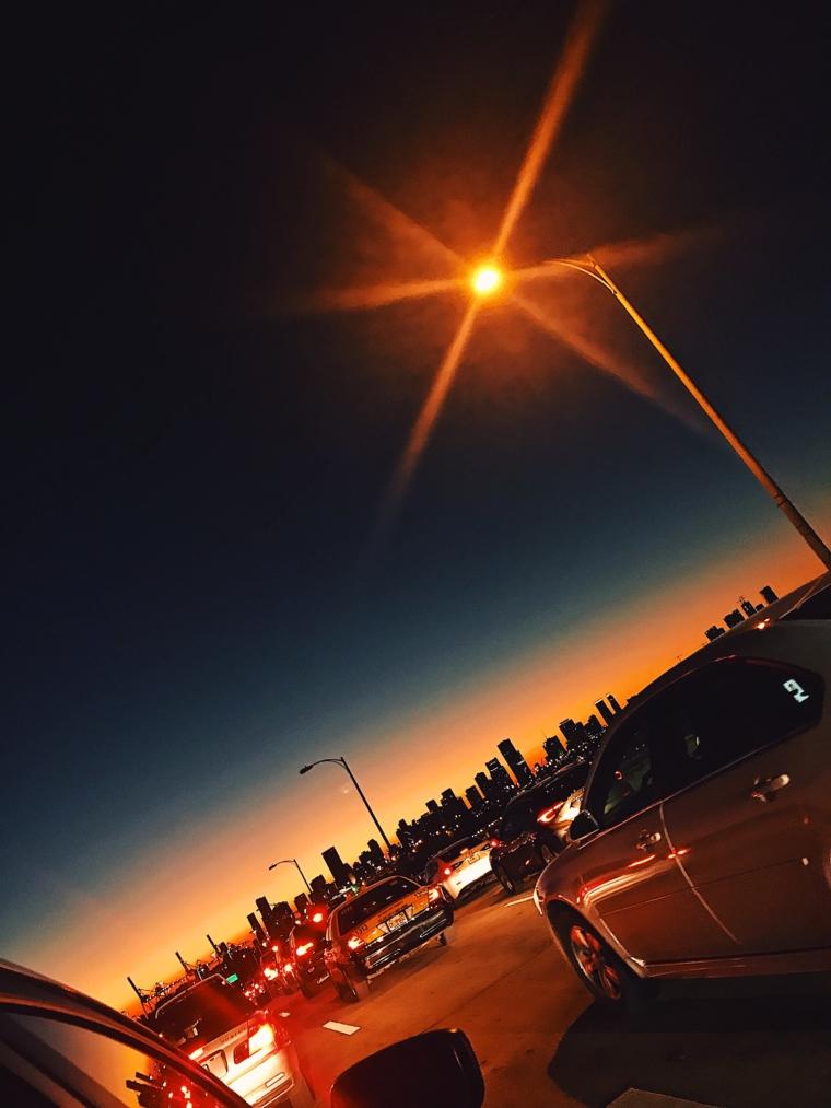 sun set maimi beach sky line
