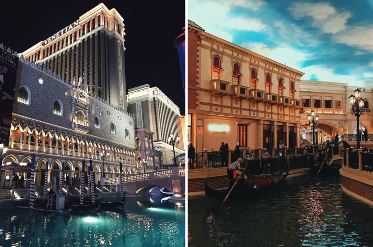 las vegas venetian hotel by night