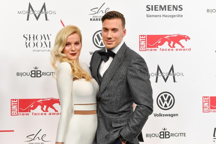 bunte new faces award 2017 red carpet best fashion look style palina kozyrava