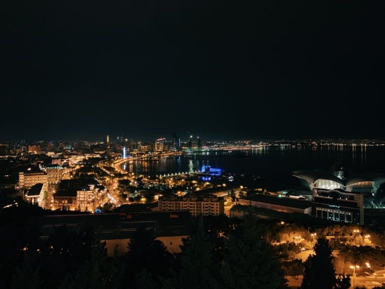 baku Azerbaijan by night