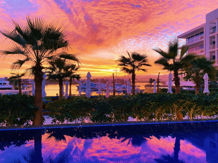 hyatt Regency Aqaba Ayla jordan sunset