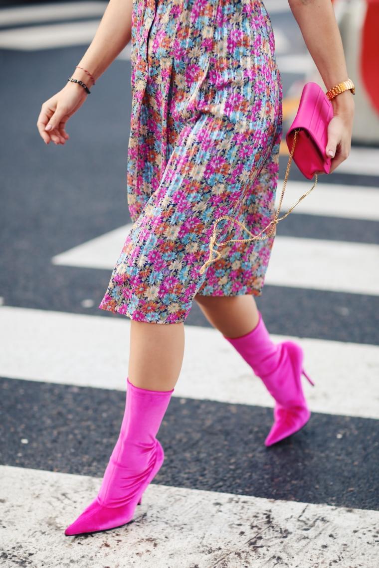 velvet pink balenciaga boots high heels demna gvasalia