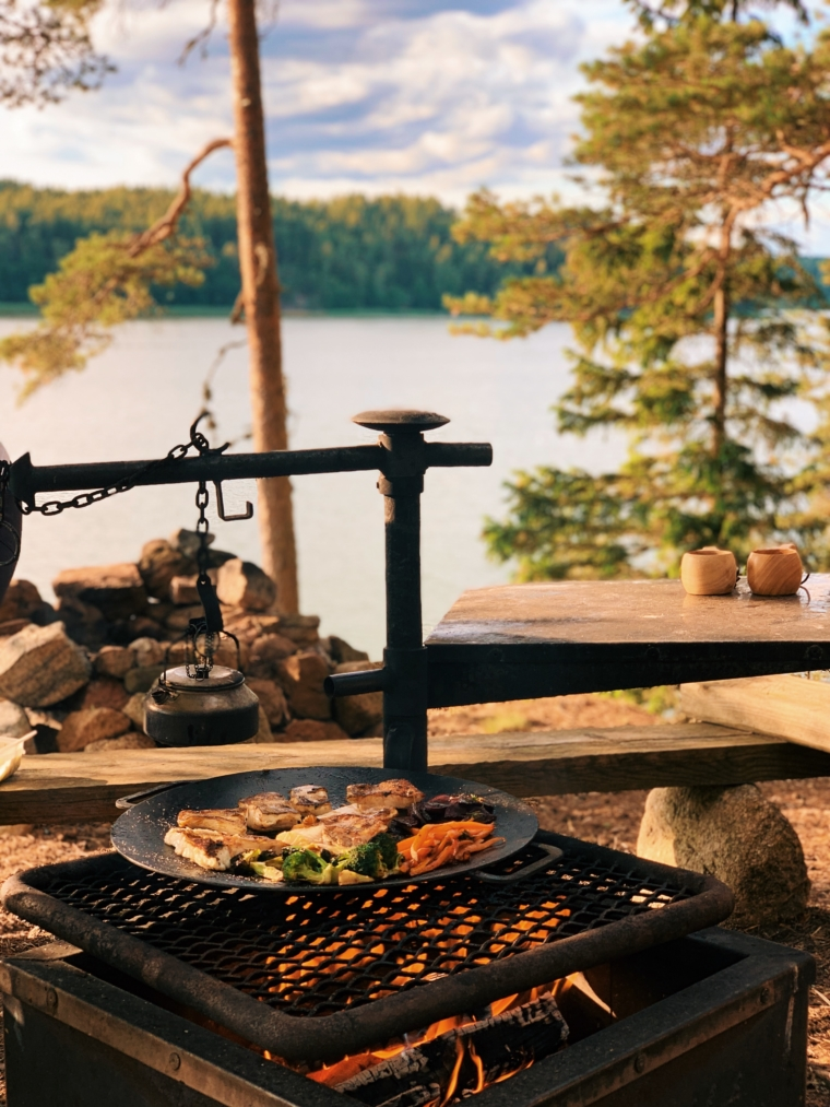 mathildedal finnland barbeque forest