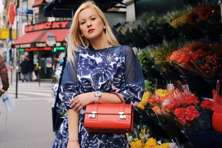red Moynat Cabotin handbag talbot runhof dress paris fashion week