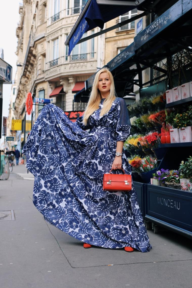 palina kozyrava paris fashion week talbot runhof maxi kleid