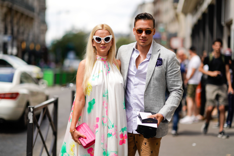 couple streetstyle paris fashion week 2018 2019 season