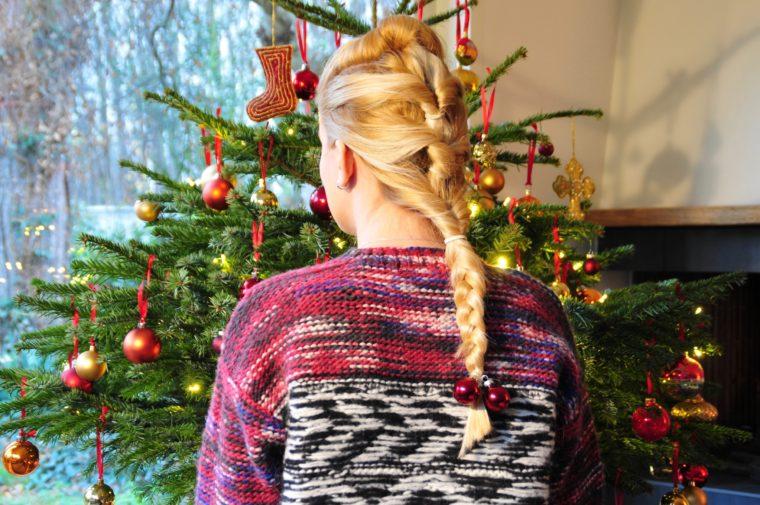 festive hairstyle weihnachtsfrisur
