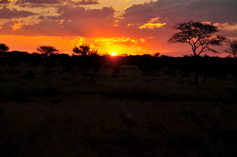 most beautiful sun down namibia africa