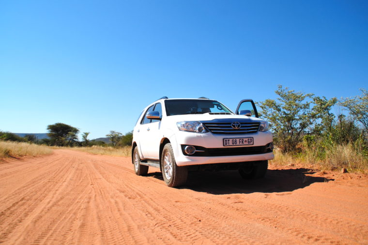 road trip namibia toyota fortuner