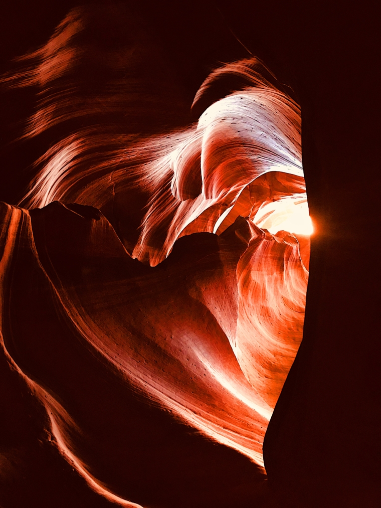 antelope canyon heart shape