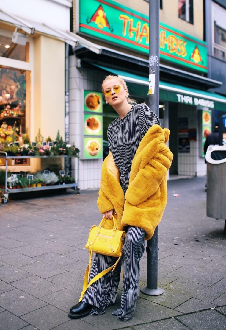 faux fake fur trend 2018 yellow color balenciaga