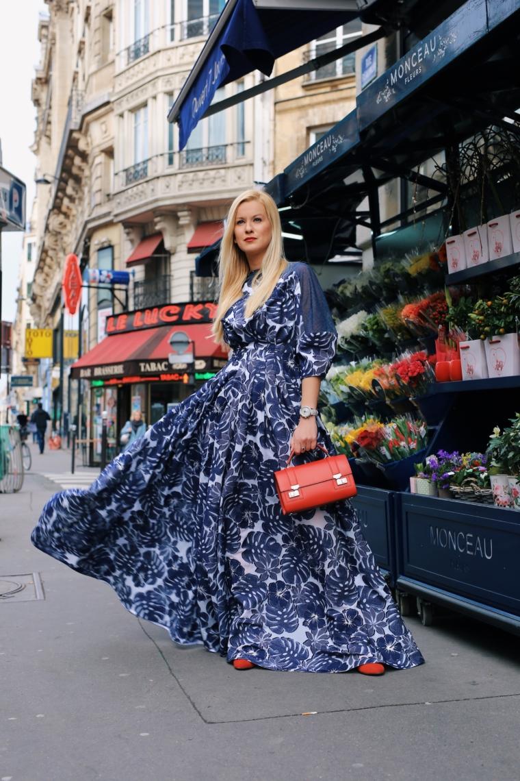 Talbot & Runhof maxi dress paris fashion week red Moynat Cabotin