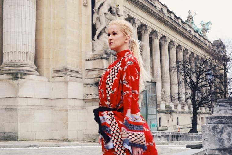 kimono red ana alcazar streetstyle paris palina kozyrava