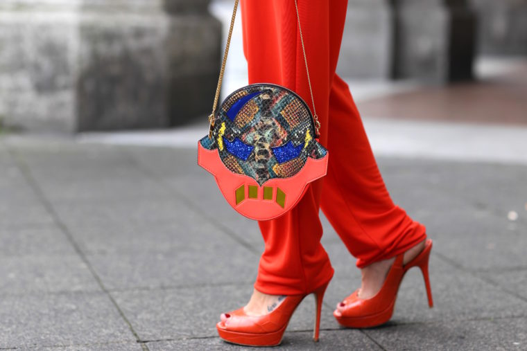 jimmy choo red high heels STELLA MCCARTNEY Superhero Clutch Crossbody Bag Multi fashionette
