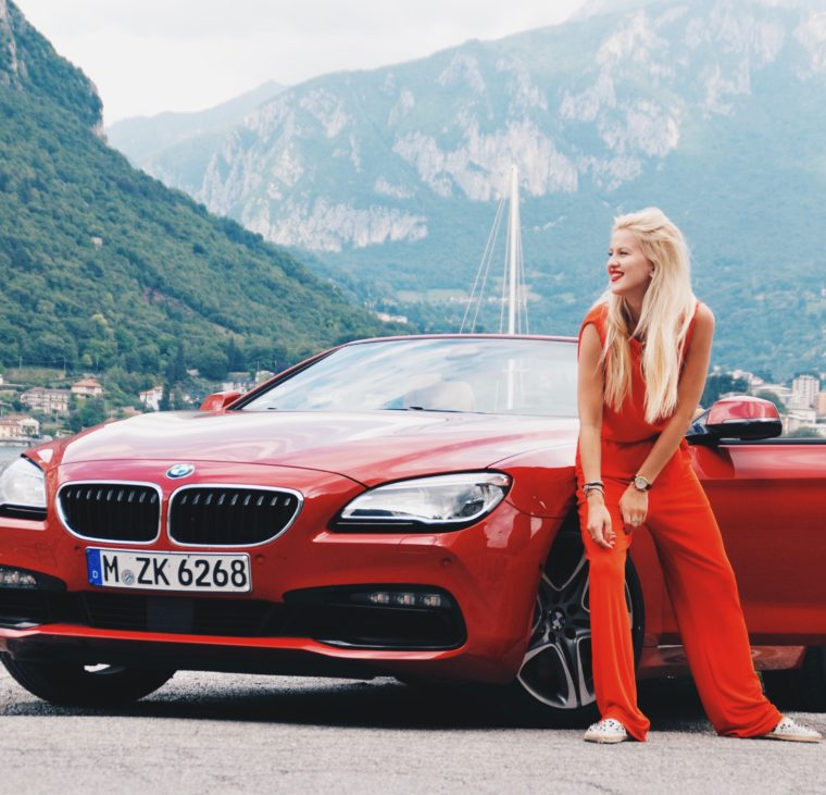 bmw 640i red convertible europe road trip switzerland italy
