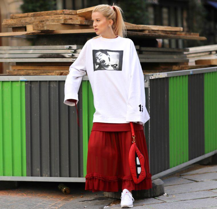 fenty puma by rihanna white sweatshirt xxl mm6 maxi dress red