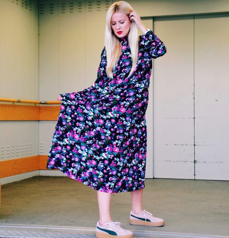 xxl flowerprint dress vetements like